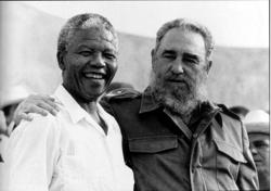Nelson Mandela und Fidel Castro, 26. Juli 1991, Matanzas, Kuba.  Foto: Liborio Noval